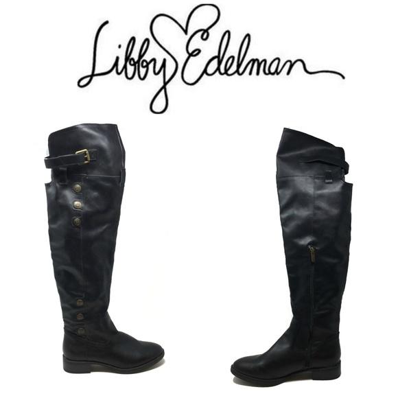 04d7d20058bd libby. edelman Shoes - Libby Edelman Le Padma Sz 8.5 Black Tall Boots New